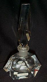 Vintage Hand Cut crystal perfume botle West Germany