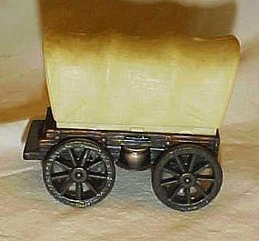 Collectible die cast covered wagon pencil sharpener