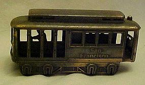 Die cast metal cable car pencil sharpener  1985
