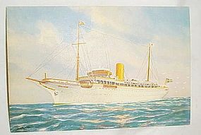 Vintage Clipper Line post card Onboard Stella Polaris