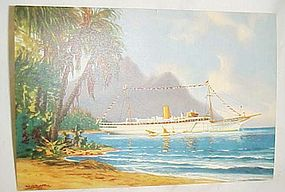 Vintage Clipper Line Onboard Stella Polaris post card