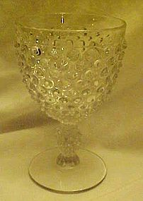 Duncan and Miller crystal hobnail water goblet