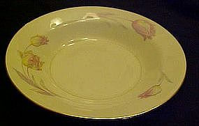 Homer Laughlin Eggshell Nautilus Tulip rimmed soup bowl