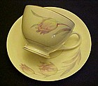 Homer Laughlin Eggshell Nautilus Tulip cup and saucer