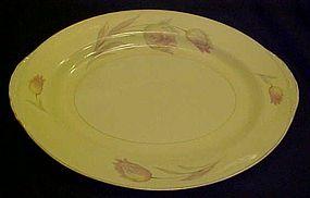 Homer Laughlin Eggshell Nautilus Tulip oval Platter