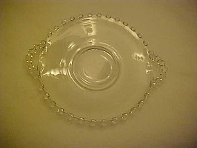Imperial Candlewick 5 7/8 handled tray mayo under liner