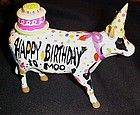 Animal Parade ceramic Happy Birthday Confetti Cow