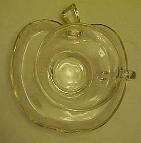 Hazel Atlas Orchard apple pattern cup and saucer