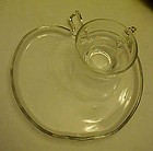 Hazel Atlas Orchard Apple shape snack plate with cup