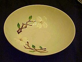"Orchard Ware dogwood pattern 8"" vegetable bowl"