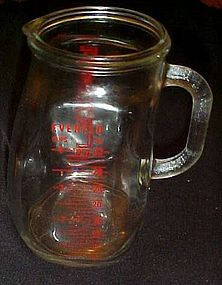 Vintage Evenflo 1 qt glass measuring pitcher