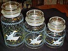 """Anchor Hocking Farm Country geese glass cannister 5.50"""""""