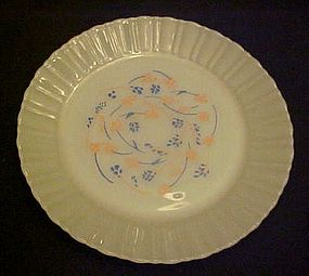 Termocrisa milk glass  dinner plate peach blue floral