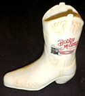 Vintage Bobby McGee's ceramic advertising cowboy boot