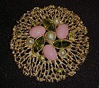 Huge Sarah Coventry FASHION  SPLENDOR pin early 70's