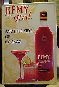 Remy Red Cognac tin advertising sign Remy Martin 2000