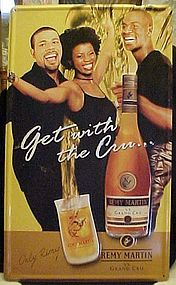 Remy Martin Grand Cru cognac tin advertising sign 2000