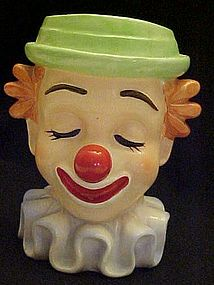 Vintage Inarco Bozo the clown head vase E 2320