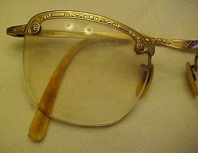 Vintage 12K gold filled semi eye glasses frames