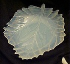Beautiful opalescent slag leaf dish AWESOME!!