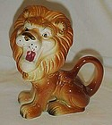 Vintage ceramic roaring lion figurine