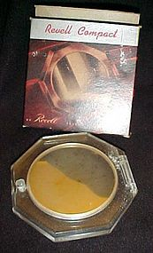 Wonderful vintage 1945 Revelle lucite compact  MIB