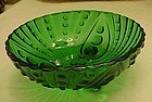 Anchor Hocking Burple forest green small salad bowl