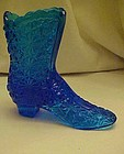 Fenton colonial blue daisy and button shoe boot