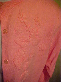 WOW Vintage Mode O Day Hot pink acrylic sweater sz 38