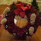 Original red  bottlebrush Perma Wreath  in original box