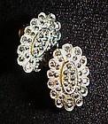 Lovely vintage screw back marcasite earrings