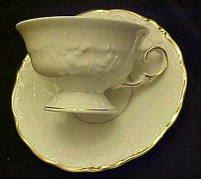 Golden Elegance Poland footed cup and saucer