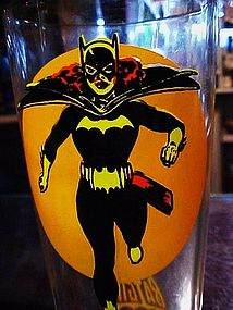 Pepsi Moon Batgirl promotional drinking glass DC Comics