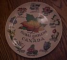 Royal Winton Canada Floral emblems Souvenir Plate
