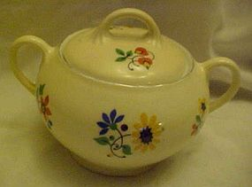 Old  Z S & Co Bavaria floral sugar bowl pattern #8789