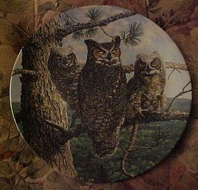 Knowles Lofty Limb Great Horned Owls 2nd plate