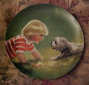 Donald Zolan Making Friends collector plate 3rd