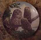 Knowles perfect Perch Barred owls 7th plate
