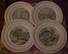 Currier & Ives 4 seasons set of 4 plates Japan