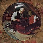 Norman Rockwell Grandpa's gift 1st issue plate