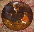 Norman Rockwell The Tycoon Heritage Series plate