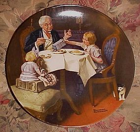 Norman Rockwell The Gourmet Heritage series plate