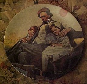 Norman Rockwell plate Home from the County Fair