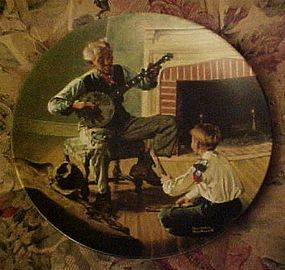 Norman Rockwell plate The Banjo Player Heritage series