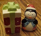 Cute penguin and Christmas gift salt and pepper shakers