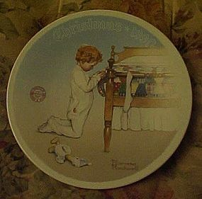 Norman Rockwell A Christmas Prayer 1990 plate