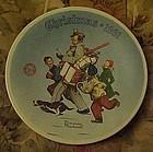 Norman Rockwell Santa's Helper  1991 annual plate