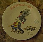Norman Rockwell Christmas plate 1993 The Tree Brigade