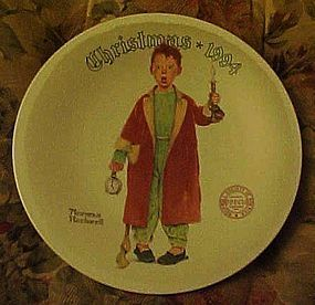 Norman Rockwell 1994 plate Christmas Marvel