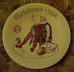 Norman Rockwell And To All A Good night plate 1996